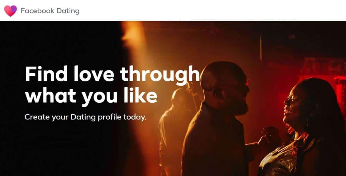 Screenshot of Facebook Dating