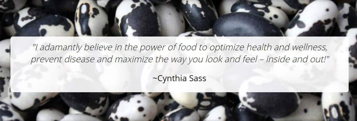 Screenshot from the Cynthia Sass website