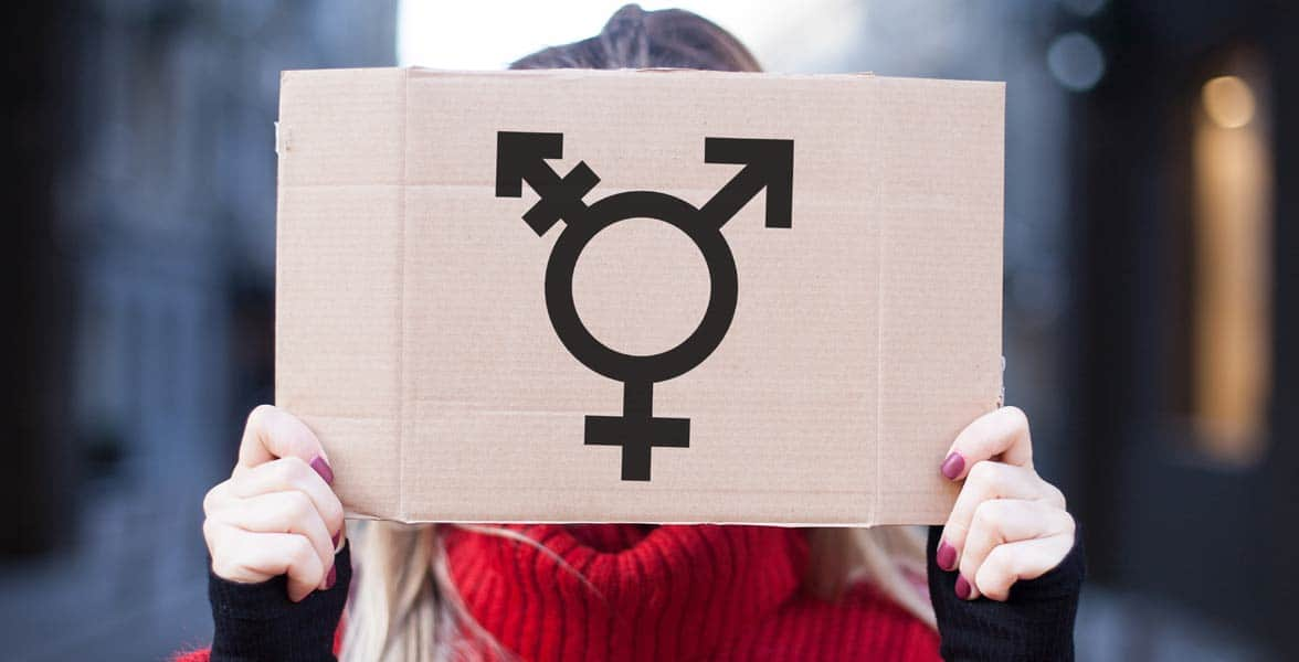 Photo of the transgender symbol